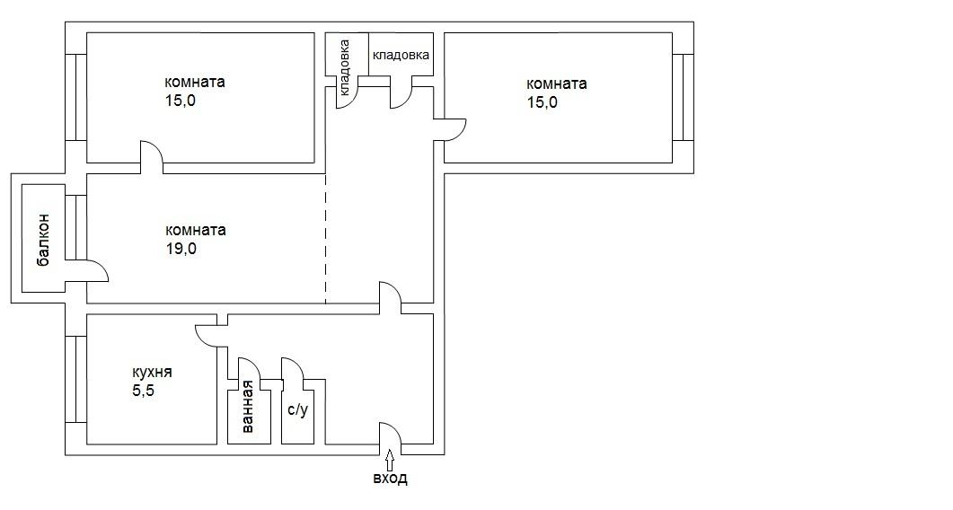 Ремонт 2-комнатной квартиры 7260 кв м по адресу: ул