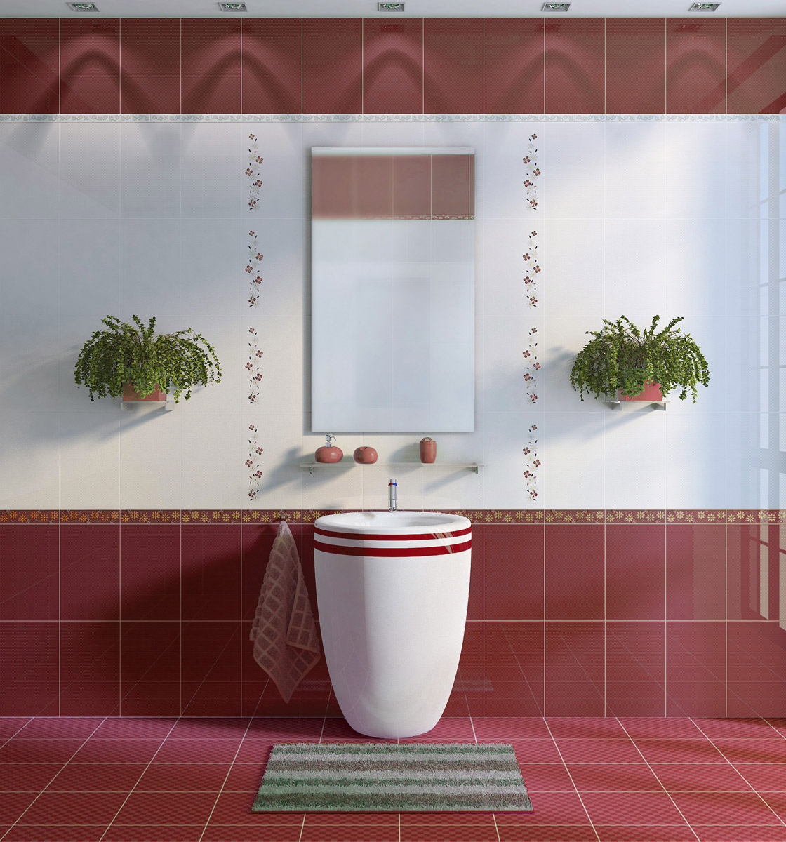 Фото раскладки плитки с цветами для ванной