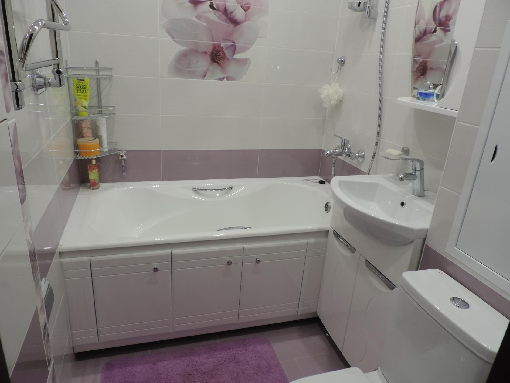 Дизайн ванны с маленькой площадью