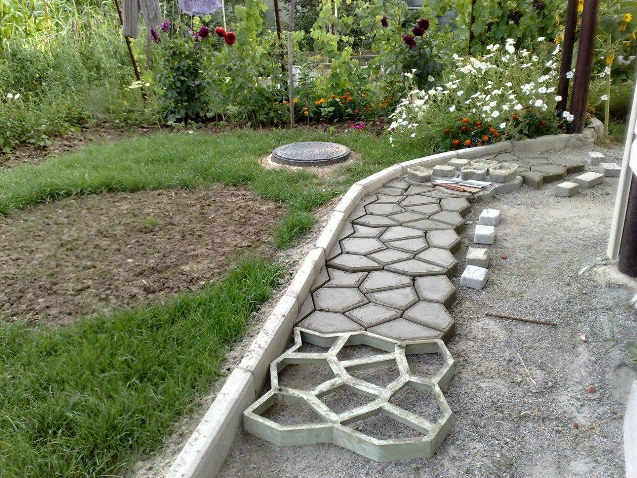 Форма садовая дорожка из подручных материалов фото