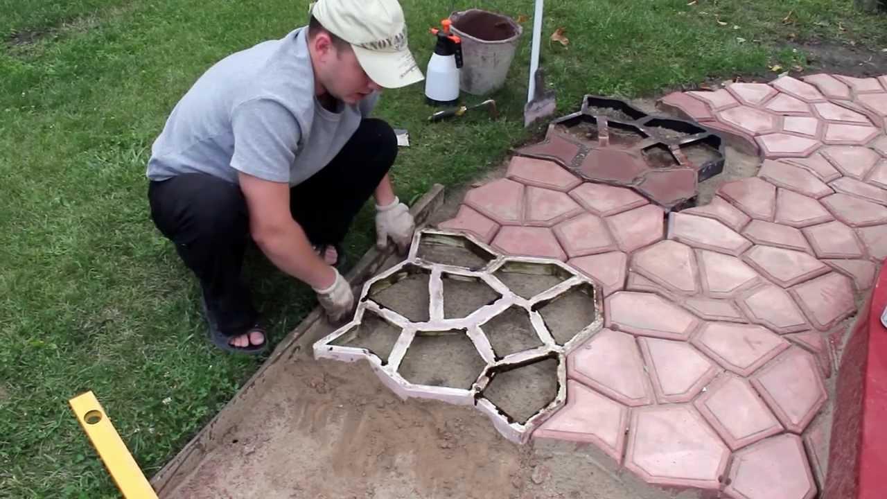 Как сделать тропинку на даче своими руками из плитки