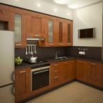 Классическая кухня коричневого цвета