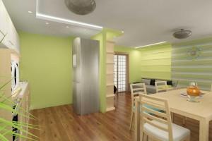 Комната в салатовой цвете