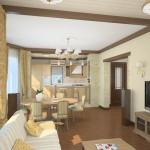Красивая и нежная планировка комнаты