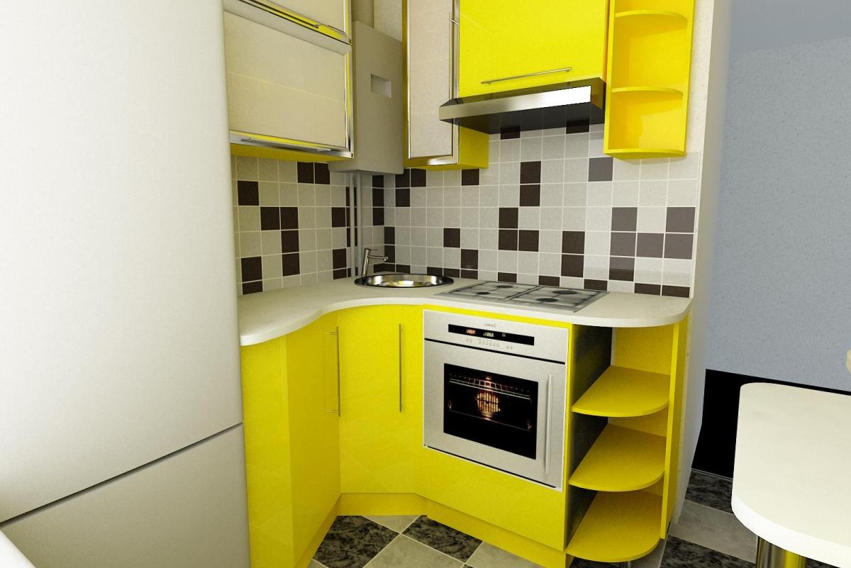 Кухня эконом класса на 5 кв. м