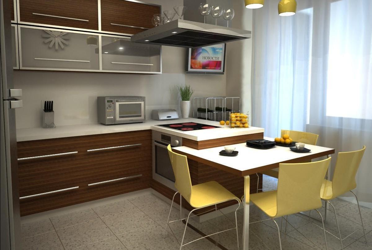Кухня в стиле хай-тек - trestusc.ru.