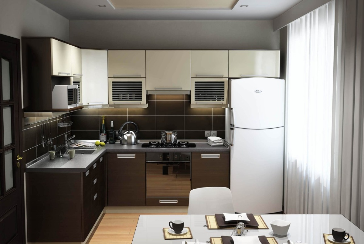 Кухни дизайн хай тек 9 кв м