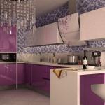 Кухня выполненная в сочных оттенках