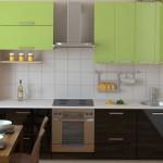 Линейная кухня для небольшого помещения
