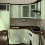 Кухня с угловой мойкой