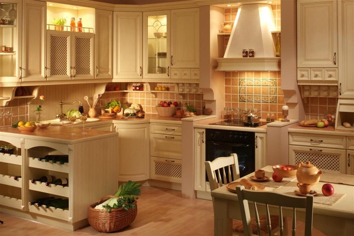 Оригинальный кантри стиль для кухни