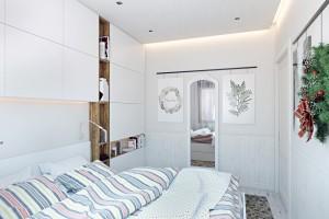 Скандинавский стиль небольшой спальни