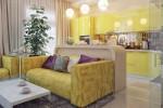 Кухня совмещенная с гостиной: зонирование и оформление