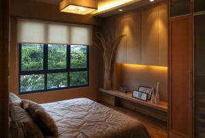 Спальня цвета темного шоколада