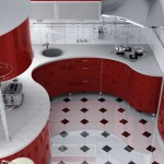 Стильная красная кухня