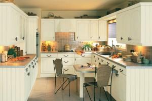 Удобная П-образная кухня