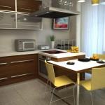 Угловая кухня для небольшой площади