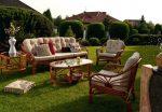 Плетеная мебель для дачного сада