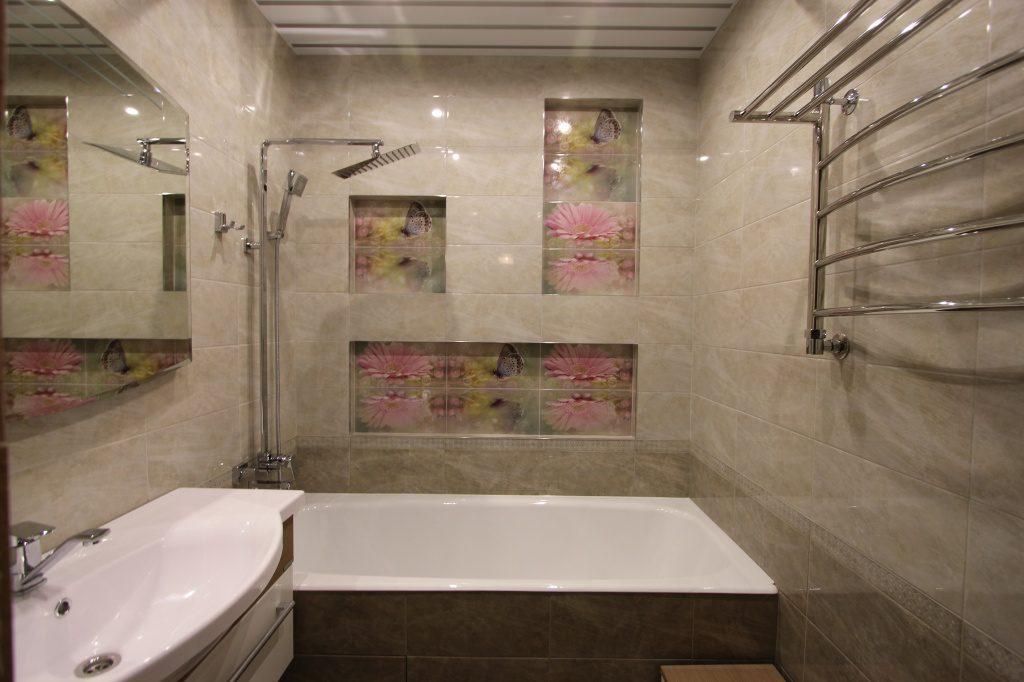 2016 ремонт ванной комнаты отделка плиткой ванных комнат фото