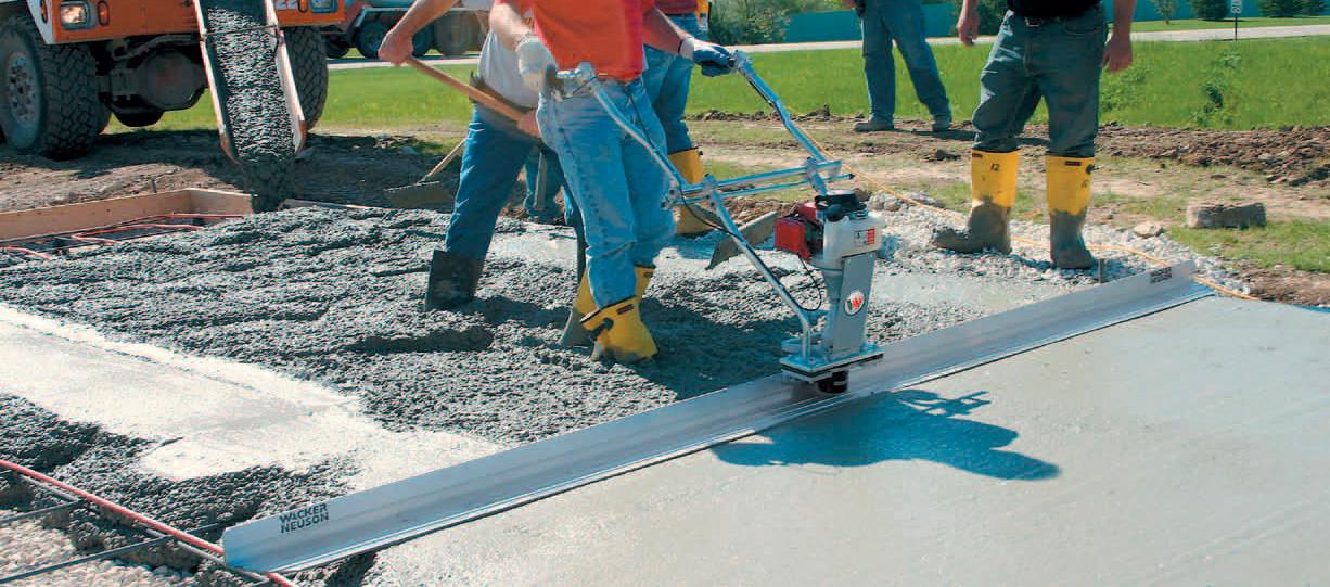 Каток укладки бетона