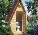 Деревянный туалет для дачи своими руками